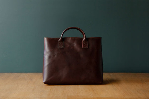 TRVR DAY LEATHER TOTE_SADDLEBROWN