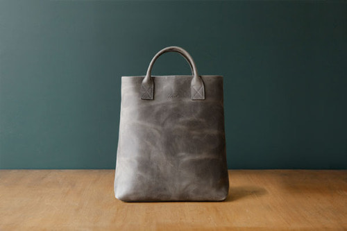 DAY LEATHER TOTE M - GREY