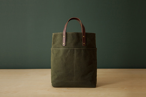 2 WAY TOTE - OLIVE GREEN